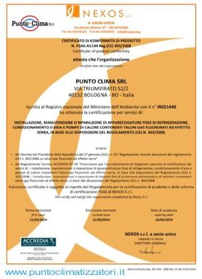 certificazione azieda punto clima srl