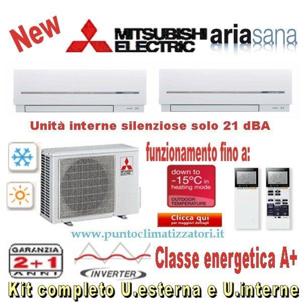 mitsubishi dual split 7000+7000 inverter p. di calore a+ | punto
