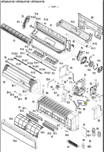 esploso-daikin-modello-atxs20jv1b-atxs25jv1b-atxs35jv1b