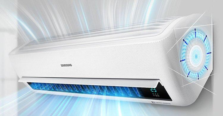 Samsung windfree kit dual 9000 12000 split inverter pompa di calore a r32 small wi fi - Conviene riscaldare casa con climatizzatore ...